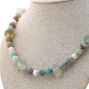 The Amazonite and sea glass necklace can be worn alone, OR with other pendants.