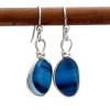 Stunning sea glass earrings made with glass for Seaham England.