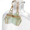 Perfect seafoam green sea glass earrings set in a triple sterling 14K Rolled Gold setting.