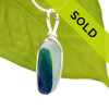 Seaham Multi Sea Glass Necklace Pendant In S/S Original Wire Bezel©