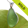 HUGE Light Green Sea Glass In Sterling Deluxe Wire Bezel© Natural UNALTERED sea glass left just the way it was found on the beach! Sorry this one of a kind pendant has been sold!