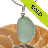 Perfect top quality sea green sea glass pendant in sterling silver. Sorry this pendant has been sold!