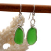 Stunning bright natural sea glass pieces in a timeless classic setting.