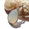 October Ocean Opal - VERY RARE Opalized Sea Glass In Sterling Bezel© Pendant