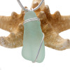 Vivid long sea green sea glass is set in our basic beach sterling setting. A great pendant for any necklace.