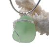A Simple Seafoam Green Sea Glass In Sterling Basic Beach Setting Pendant