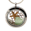 Genuine seafoam greensea glass pieces combined with a real starfish, pearls and real beach sand in this 30MM stainless steel locket.