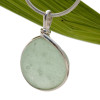 Bubbled Seafoam Green Beach Found Sea Glass Sterling Wire Bezel© Pendant