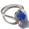 We hunt through thousands of pieces of sea glass to find the perfect fit for our rings, Never shaped artificially! TOP QUALITY LUCKY BLUE SEA GLASS