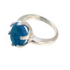 Amazing sea glass from Seaham England in a solid sterling ring.