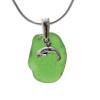 A genuine sea glass necklace in green