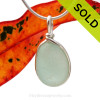 A neat thick piece of TOP QUALITY Seafoam Green Sea Glass in solid sterling Original Sea Glass Bezel© pendant setting. Sorry this Sea Glass Jewelry selection has been sold!