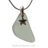A simple beachy sea glass necklace perfect for any sea glass lover!