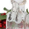 These are the EXACT pair of white Sea Glass Earrings you will receive!