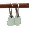Shaped only by the sea, these natural sea glass pieces really glow hanging from these solid sterling silver leverbacks.