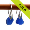 Sorry this pair of blue sea glass jewelry earrings have been sold!