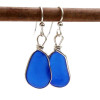 It is getting harder and harder to find natural beach found blue sea glass pieces to match for earrings. REMEMBER - Our sea glass is shaped only by tide and time!