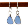 A small but beautiful pair of sea glass earrings.