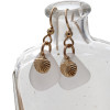 Perfect clean and clear white sea glass pieces set with goldfilled shell charms for a lovely lightweight pair of sea glass earrings.