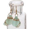 Simple and elegant beach found sea glass earrings.