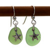 Simple and beachy sea glass earrings.