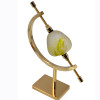 Murano specimen sea glass glob from Italy on a 5 inch brass stand.