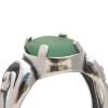 A detail of this aqua sea glass ring