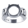 A solid sterling silver ring base that can be resized.