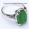 Custom sea glass ring with customer supplied sea glass