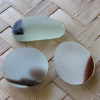 3  pieces of mixed whitish English Sea Glass pieces from Seaham England