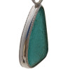 A detail of the solid sterling silver pattern wire used on the pendant.
