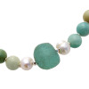 Large chunky recycled aqua glass beads make this a true statement piece.