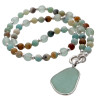 A stunning attention getting sea glass jewelry piece