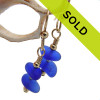 Sorry these double drop blue sea glass earrings are sold