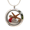 Just For Mom - RARE Ruby Red Sea Glass and Real Sand With Mom Charm & Starfish