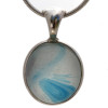 A stunning mixture of Carolina blue and light blue in a 100 year old sea glass piece!