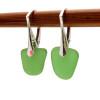 A simple elegant pair of genuine sea glass earrings in green.