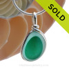 An unusual piece of blue and teal English Multi sea glass set for a necklace in our Original Sea Glass Bezel© in solid sterling silver setting. Sorry this piece of Sea Glass Jewelry has been SOLD!