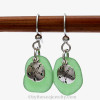 This is the EXACT pair of sea glass earrings you will receive.
