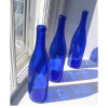 Though there is modern blue glass, people no longer toss their waste into the sea. New cobalt bottles (pictured here) also do not contain as much cobalt as old vintage bottles so the color is not as deep. Cobalt blue sea glass is a rare find on most beaches worldwide.