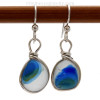 Not a perfect match in color pattern but a very SUPER ULTRA RARE pair of sea glass earrings.