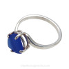 A stunning perfect lucky cobalt blue sea glass ring perfect for any sea glass lover!