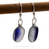 A once in a lifetime pair of English sea glass earrings.