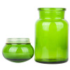 Lime or chartreuse glass is not your everyday green but a vivid yellow green.