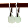 A beautiful pair of sea glass earrings with Genuine Sea Glass shaped only by tide and time.