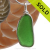 Simple and elegant our ORIGINAL setting highlights the sea glass. Sorry this Sea Glass Jewelry piece has been sold!
