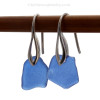 Genuine sea glass jewelry in a traditional cobalt blue.