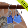 Simple and elegant these blue sea glass earrings are bound to get you compliments! Sorry this Sea Glass Jewelry selection has been SOLD