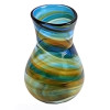 It is very possible that this sea glass piece originated from art glass scraps from the Hartley and Wood glass factories in the North East of England. Pictured here is a Hartley Wood vase from the early 20th century.