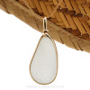 Simple, elegant and versatile, this piece will go with EVERYTHING! Genuine beach found sea glass with a perfect frosty texture.
